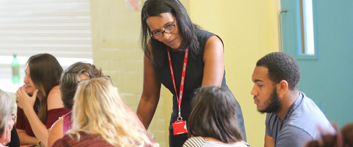 Anne Marie Christian, Child 1st Consultancy gives a talk to staff at a school in Mitcham teaching H&S and how to safeguard their pupils and how to safeguard yourself and not be vulnerable.